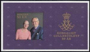 Faroe Islands 2017 MNH Sc #686 50k Queen Margarethe, Prince Henrik 50th anniv...