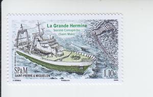 2016 St Pierre & Miquelon La Grande Hermine (Scott 1024) MNH