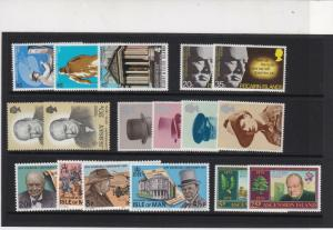 Sir Winston Churchill Mint Never Hinged Stamps - some Pitcairn Isl. Ref 27084