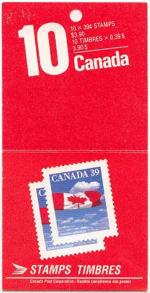 Canada - 1989 39c Flag Booklet Complete #BK112
