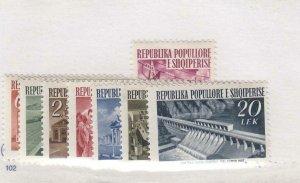 ALBANIA (MK2124) # 491-498 VF-MNH  INDUSTRIAL STATIONS +++ CAT VALUE $29
