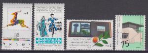 Israel #1034, 1039-40, 1044  MNH VF  CV $4.60 (A4406)