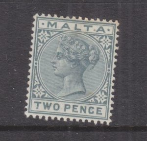 MALTA, 1885 QV 2d. Grey, lhm., slight spots at top.
