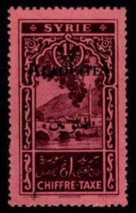 Alaouites - Scott #J7a Postage Due Overprint