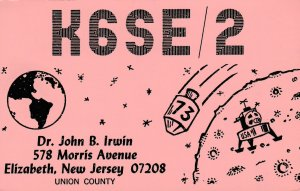 7157 Amateur Radio QSL Card  NEW JERSEY USA