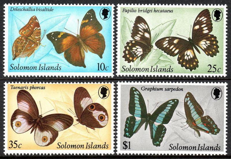 Solomon Islands 461-464, MNH. Butterflies, 1982