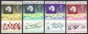 1971 BAT British Antarctic Penguins, Seals set MNH Sc# 39 / 42 CV $53.50
