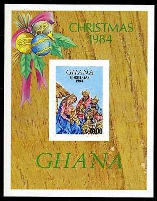 GHANA SCOTT# 957 CHRISTMAS 1984 IMPERF S/SHEET MNH