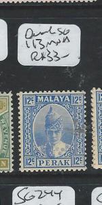 MALAYA PERAK (P1203BB) 12C  SG 113  MNH