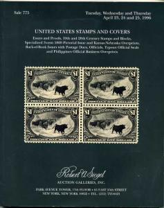 Siegel US Stamps and Cover in 1996