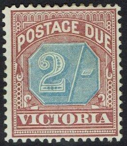 VICTORIA 1890 POSTAGE DUE 2/-
