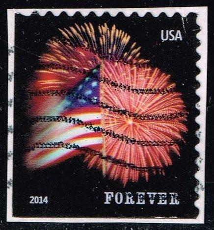 US #4869 Fort McHenry Flag and Fireworks; Used (0.25)