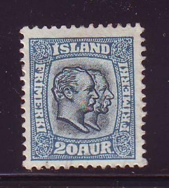 Iceland Sc 79 1907 20 a 2 kings stamp used