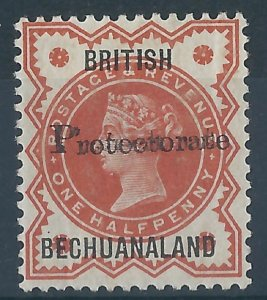 K086) Bechuanaland on G.B. 1890. Fine MM. SG 54 1/2d Vermilion. c£200+