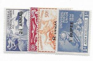 Aden #16-19 MH - Stamp - CAT VALUE $2.65