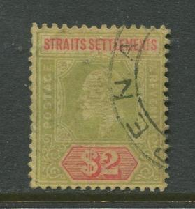 STAMP STATION PERTH Straits Settlements #126 KEVII Definitive 1909 CV$27.50.
