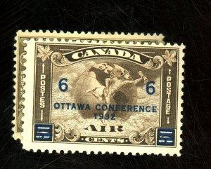 Canada #C1,C4 MINT FVF OG NH Cat$55