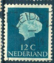 Netherlands; 1954: Sc. # 345: O/Used Single Stamp