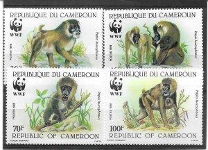 1988   CAMEROON  -  SG.  1115  /  1118  - DRILL BABOON  -  WWF  -  MNH
