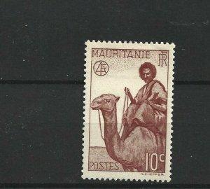 MAURITANIA  1938 - 40  10C  BROWN LAKE         MH