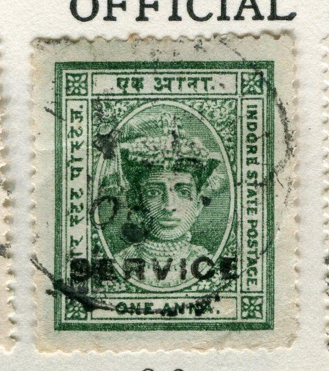 INDIA JAIPUR;  1904-6 early SERVICE Optd. issue fine used 1a. value