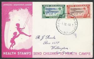 NEW ZEALAND 1948 Health FDC - Glenelg Health Camp cds......................12494