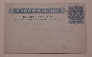 RHODESIA MASHONALAND 1900 #5