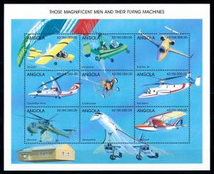 [94975] Angola 1998 Aviation Airplane Helicopter Condor Sheet MNH