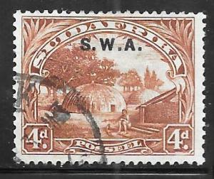 South West Africa 101b: 4d Native Kraal, used, VF