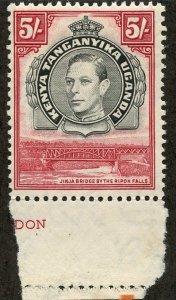 Kenya-Uganda-Tanganiyka, Scott #83, Unused, Hinged