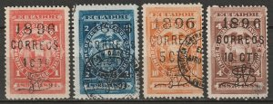 Ecuador 1896 Sc 70-3 set MH*/used