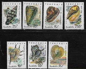 Tanzania MNH 940-6 Seashells Marine Life 1992
