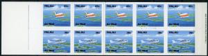 Palau #C20b Boeing 727 Aircraft Full Booklet MNH
