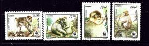 Algeria 872-75 MNH 1988 Barbary Apes (W.W.F.)