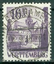 Germany - French Occupation - Wurttemberg - Scott 8N20