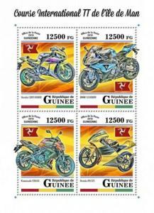 Guinea - 2018 Isle of Man TT Race - 4 Stamp Sheet - GU18108a