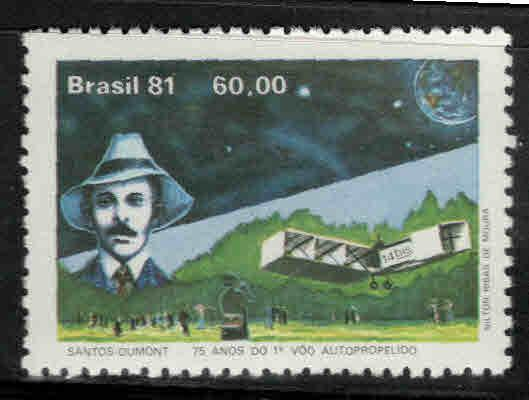 Brazil Scott 1767 MNH** Dumont Avaitor stamp 1981
