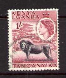 Lion, Kenya, Uganda, Tanzania stamp SC#112 used