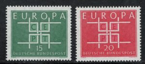 Germany 1963 Europa Omnibus Issue Scott # 867 - 868 MNH