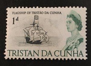 Tristan Da Cunha Flag Ship Scott 72 QEII One Cent-Mint NH