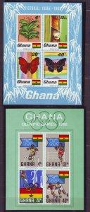 Z558 Jlstamps 1968 ghana s/s mnh #335a,343a