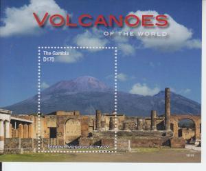 2016 Gambia Volcanoes SS (Scott 3721) MNH