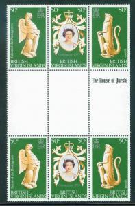 Virgin Islands Scott 337a-c MNH** QE2 Coronation gutter p...