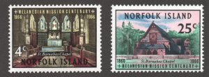 Norfolk Island (1966) - Scott # 97 - 98, MNH