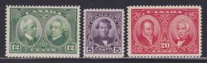 Canada 146-148 VF never hinged set with nice colors scv $ 75 ! see pic !