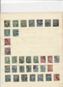 Uruguay Stamps on album page Ref 15595