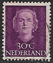 Netherlands # 313 - Queen Juliana 30ct.  - used....(P4)