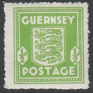Stamp Germany Guernsey Mi 01e Sc N1 WWII 1941 War Germany Occupation England MH