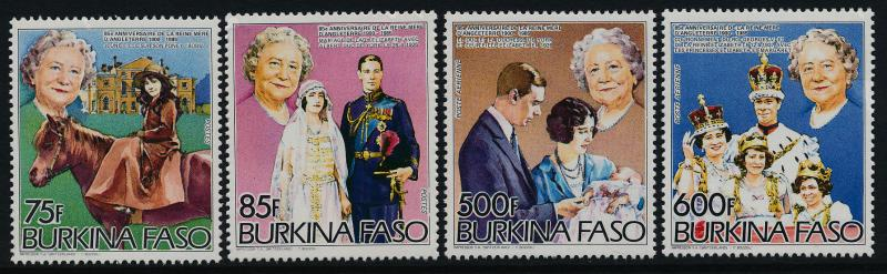 Burkina Faso 703-6 MNH Queen Mother 85th Birthday, Horse