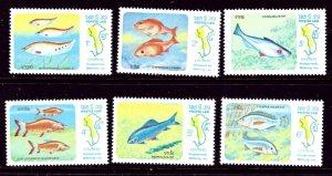 Laos 481-86 MNH 1983 Fish    (ap3419)